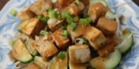 Cucumber Salad with Glazed Tofu by Elle Bee