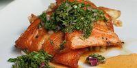 Seared Salmon with Azuki Bean Paste by JayMan3