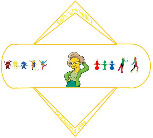 File:Edna Krabappel & the Schoolyard Gang Logo.png