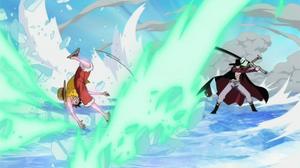 Mihawk Attacks Luffy