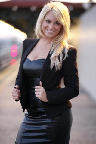 File:Michelle DeCarlo-Black Leather Dress & Jacket.jpg