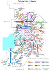 Raylway Map of Osaka