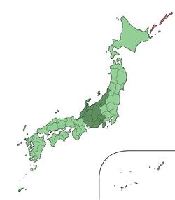 Japan Chubu Region large