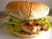 Chicken Sandwich with Mango Guacamole 500