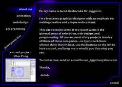 JacobGrahn.com Homepage 3