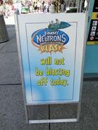 Universal Studios Jimmy Neutron's Nicktoon Blast closed sign