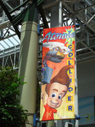 Nickelodeon Universe Jimmy Neutron's Atomic Collider flag