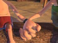 J&C holding hands