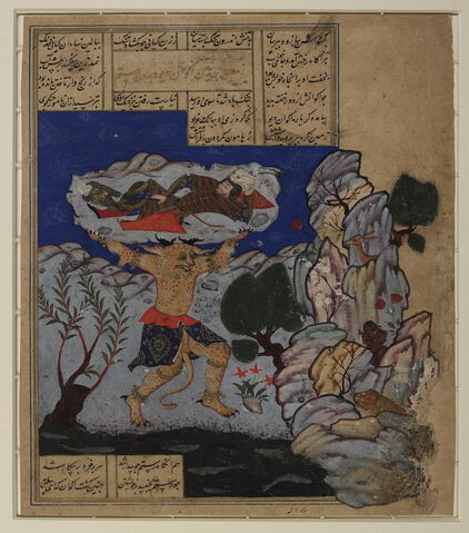 File:Shahnameh - The Div Akvan throws Rustam into the sea.jpg
