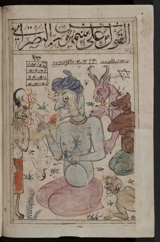 File:Kitab al-Bulhan --- human figure and devils.jpg