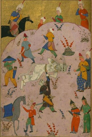 File:Firdawsi - Rustam Slays the White Div (the 7th Feat) - Walters W60091A (cropped).jpg