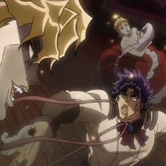 Jonathan gets attacked by Dio's head