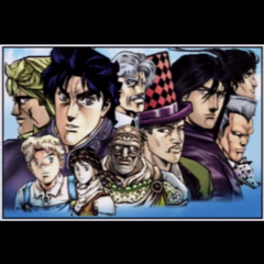 The group of heroes at the ending