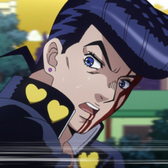 Josuke reaching speeds of 80km/ph trying to outrace Highway Star.