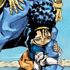 Boingo's appearance in the manga