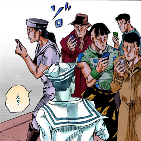 Paper Moon King's effect on Josuke's face recognition