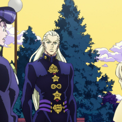Mikitaka informs Josuke that his mother is just a brainwashed woman.