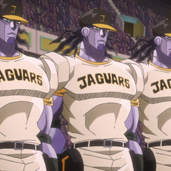 The Jaguars, consisting of a team of Star Platinums