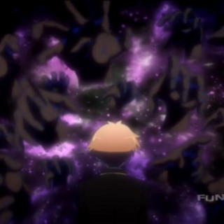 Akihisa being dragged into the other world