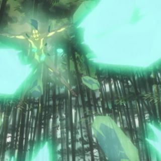 Hierophant's Emerald Splash, as depicted in the OVA.
