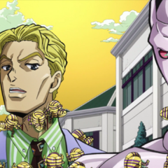 Harvest swarming Kira and his Stand, <a href=