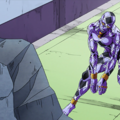 Highway Star assumes its true form to uncover Josuke's whereabouts.
