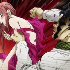 Kira shocks his wife, causing her dress to tear open.