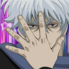 Gintoki doing a JoJo Pose