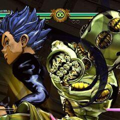 Koichi executing his HHA, <i>ASB</i>