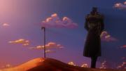 Jotaro buries N'Dour in the anime