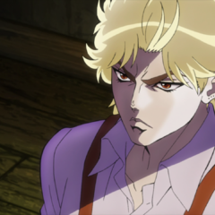 A young Dio glaring at his dying father