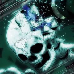 Star Platinum cracking DIO's skull