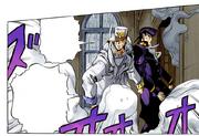 Josuke and Jotaro trapped