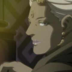 Enya's younger form in the prequel OVA adaptation.