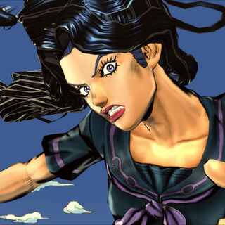 Yukako using her Stand; Love Deluxe in <i>Eyes of Heaven</i>