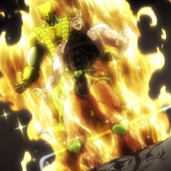 DIO reveling over the apparent death of Jotaro