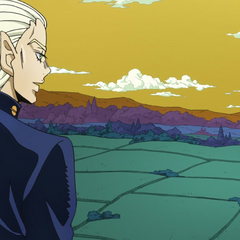 Mikitaka fondly looking out over Morioh.