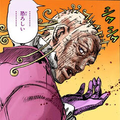 Funny Valentine as an old man after Gyro's Second Attack.