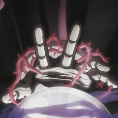 DIO's Hermit Purple used on a crystal ball.