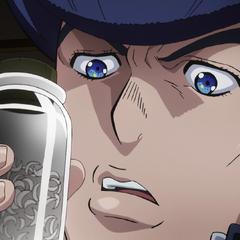 Josuke finds a jar of Kira's fingernail clippings.