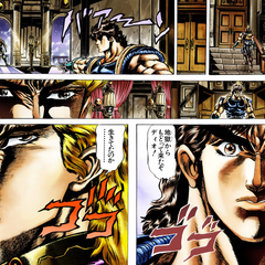 Dio confronted by Jonathan