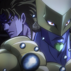 DIO, awakening his Stand for the first time to stop a shotgun blast