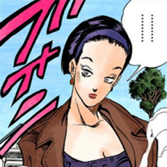 Tomoko initial appearance, before Araki's style change