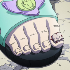 Shinobu's toenail blown off by <a href=