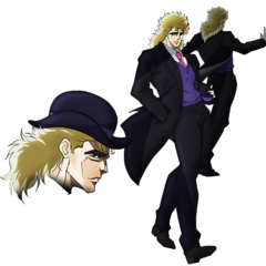 Young Speedwagon concept art for the anime