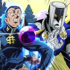 Appearing alive and well just in time to save Josuke.