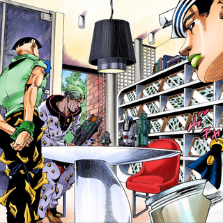 Jobin admiring his collections.