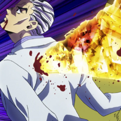 Kira stabbed by a piece of glass turned projectile by <a href=