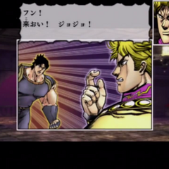 Taunting Jonathan, at their ultimate meeting