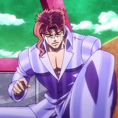 Kakyoin wears pajamas in <a href=